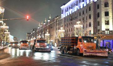Москвичей предупредили о снеге ночью